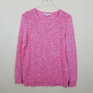 Ann Taylor LOFT Long Sleeve Sweater Pink Pullover